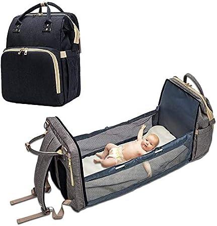 color azul Bolso cambiador para beb/és bolsa para beb/é para almacenamiento de viaje mochila para beb/é bolsa para el pa/ñal multifuncional para cuna o beb/é port/átil