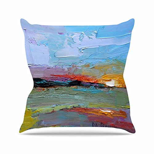 """Kess InHouse Carol Schiff """"Hues"""" Multicolor Painting Outd..."""
