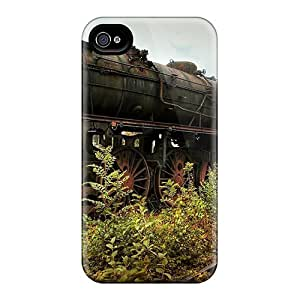 Iphone Case - Tpu Case Protective For Iphone 4/4s- Old Steam Engine At The End Of The Line