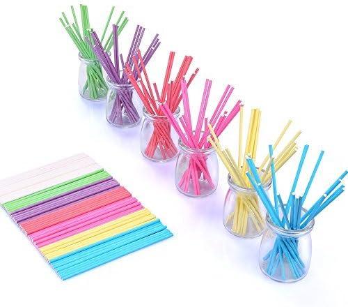 Amazon.com: Palillos de lollipop de 210 ct de 5.9 in, 7 ...