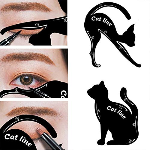 4 pcs / 2 Packs Set New Cat Line Eye Makeup Eyeliner Stencils for Eye Makeup Cat Eye Line Guide Cosmetic]()