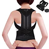yodaliy Magnetic Corset Back Posture Corrector Brace Back & Shoulder Posture Corrector Women & Men - Adjustable, Comfortable Clavicle Brace – Posture Support Belt - Size L