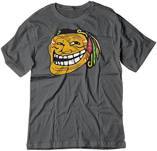 BSW Men's Troll Face Chicago Blackhawks NHL Hockey Shirt XL Charcoal