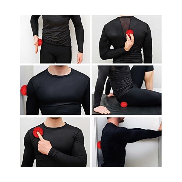 Odoland Foam Roller Kit 5-in-1, Kit di Rullo in Schiuma incl. Roller Stick, Palline per Massaggio - Kit di Rullo per… 7 spesavip
