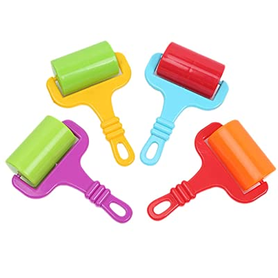 4PCS Kids Dough Roller Toy Creative Plastic Clay Dough Tool Dough Playing Tool: Everything Else