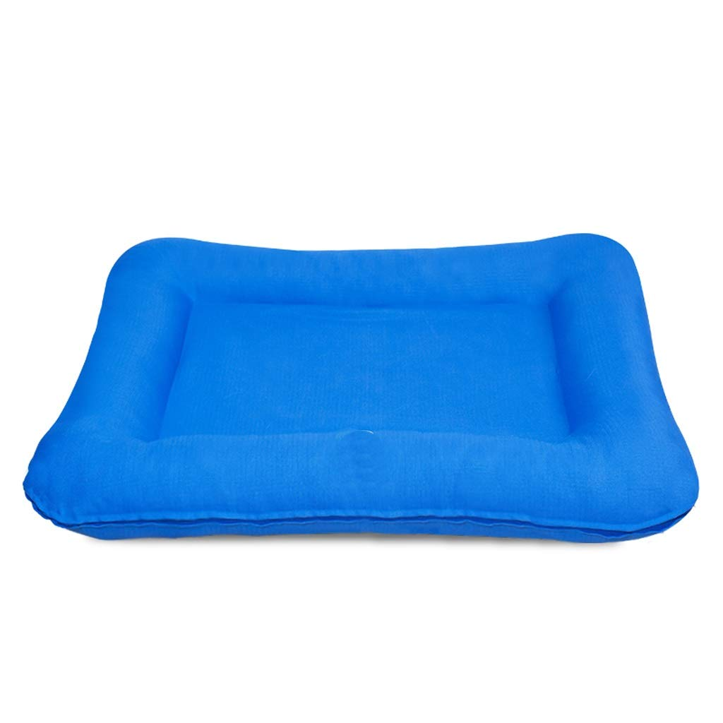 SMMBM Winter Dog Mat Removable and Washable Kennel in The Large Dog Cage Cage Warm Pad Mat Sleeping Mat Pet Bed (Color : Blue, Size : M)