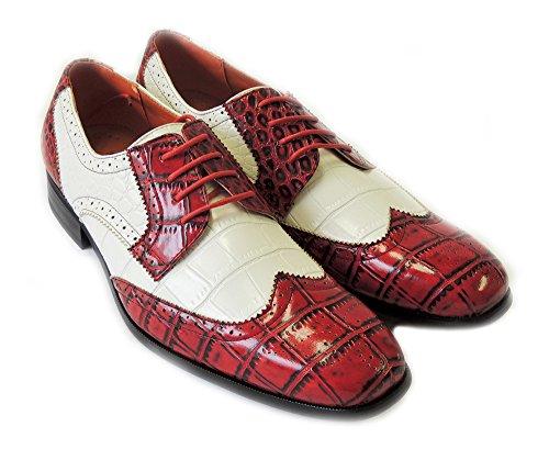 Nouvelle Mode Hommes Lace Up Wing Pointe Oxfords Cuir Alligator Doublé Robe Shoesm109185 / Vin