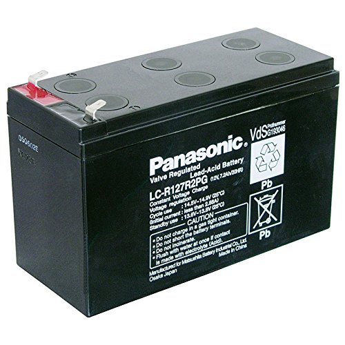 Bleiakku Panasonic Industrial LC-R127R2PG für USV Anlagen, Notbeleuchtung, Alarmanlagen, VDS-zugelassen - PB 12V 7200mAh - Akku-King