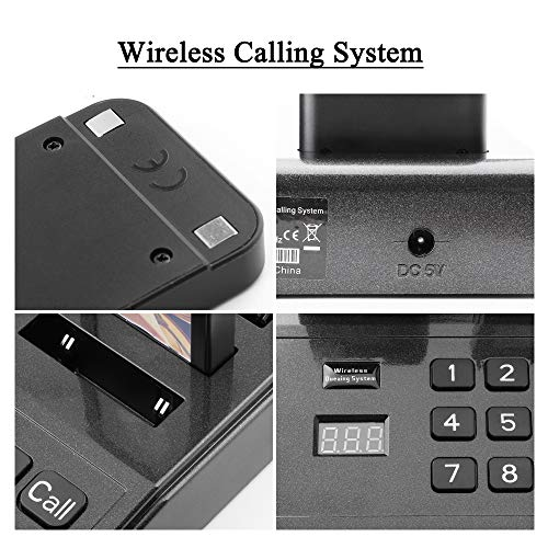 JOYSAE Restaurant Pager System Portable Wireless Calling System with 18pcs Coaster Pagers and 1pc Call Button Keypad Transmitter for Restaurant Clinic Church Cafe Shop by JOYSAE (Image #1)