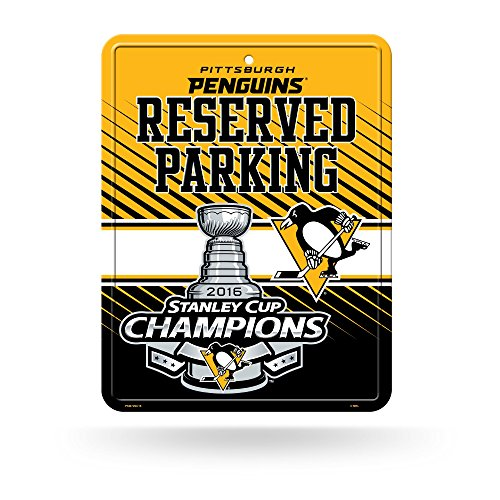 NHL Pittsburgh Penguins 2016 Stanley Cup Champions Hi-Res Metal Parking Sign