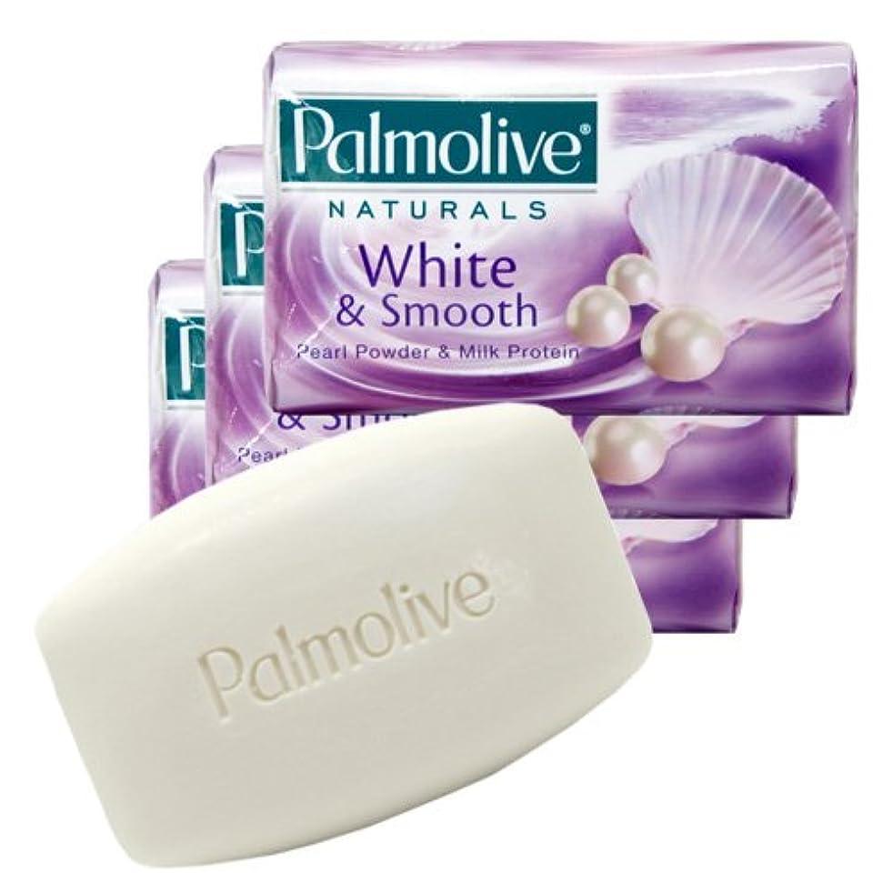 不足従事した伝染性【Palmolive】パルモリーブ ナチュラルズ石鹸3個パック ホワイト&スムース(パールパウダー&ミルクプロテイン)80g×3