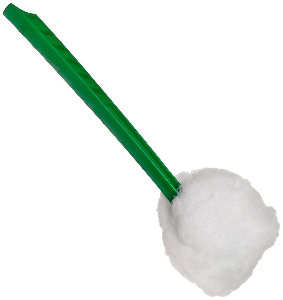 Impact 202 Deluxe Toilet Bowl Mop, 12'' Length x 5-3/4'' Height, Green (Case of 100)