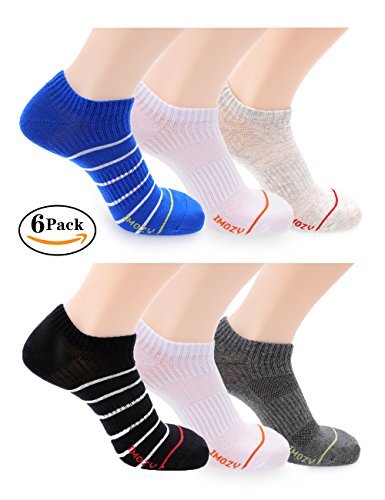 Ankle Socks, Low Cut No Show Athletic Socks for Men Boys, Non Slip, 6 Pack, - No Online 21 Shop