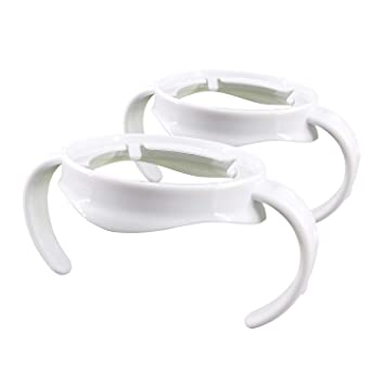 Pack of 2, White Compatible Bottle Handle for Philips Avent,