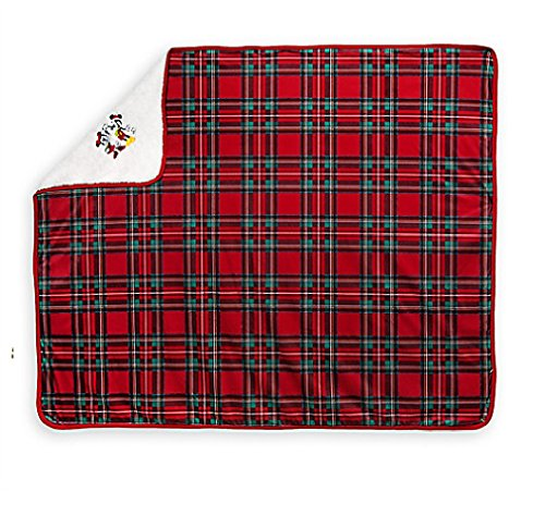 Price comparison product image Mickey and Minnie Mouse Fleece Throw - Holiday
