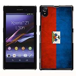 Shell-Star ( National Flag Series-Haiti ) Snap On Hard Protective Case For SONY Xperia Z1 / L39H / C6902 / C6903 / C6906