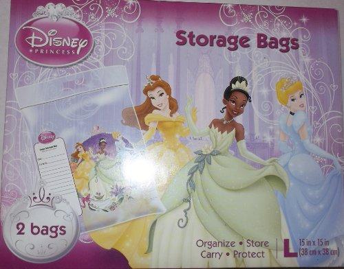 (Disney Princess Large Plastic Reuseable Bags (2) Per Box)