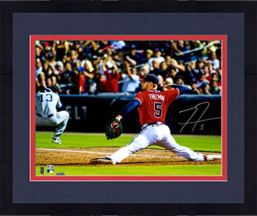 Framed Freddie Freeman Atlanta Braves Autographed 16