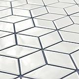 SomerTile FMTRHOGW Retro Rhombus Porcelain Mosaic