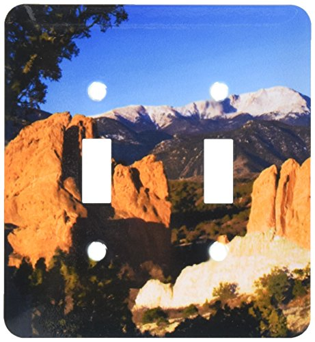 (3dRose lsp_84232_2 Pikes Peak Rock for m, Garden of The Gods, Co, USA Na02 Rnu0065 Rolf Nussbaumer Double Toggle Switch)