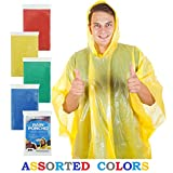 Wealers 5 Pack Poncho One Size Fit All with Hood, Perfect to Keep in Emergency Kit, Backpack, Home, Office, Car, Pocket, In Case A Rainy Day.