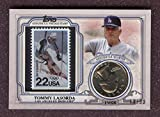 Tommy Lasorda 2016 Topps World Series Coin & Stamp #/50 Los Angeles Dodgers