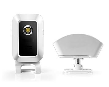 eyeCam EC5171 - Aparato de seguridad con detector de movimiento y LED clara, detector de paso y de radio (timbre de carga + detector de movimiento): ...