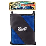 Travel Towel - Ultra Lightweight Quick-dry Microfiber Material - Super Absorbent - the best Quality Multitask Fast-dry Towel. Use it for Hiking, Camping, and Sports - Take it to the Beach, Gym, or Yoga Class - Convenient large size - 1 Year Guarantee!