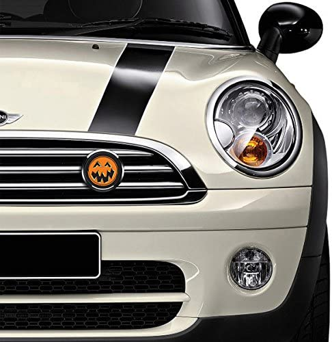 GoBadges CKC048 Halloween Pumpkin Magnetic Chrome Grill Badge Holder Combo//Universal Fit//No Tools Required//Weather-Proof and Car-Wash Safe