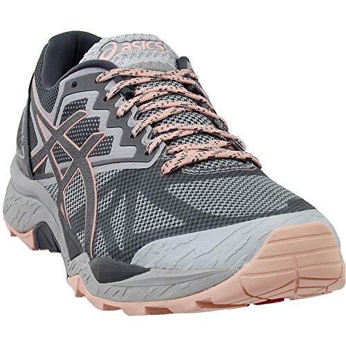 (ASICS Womens Gel-Fujitrabuco 6 Running Shoe, Mid Grey/Carbon/Evening Sand, 10.5 Medium US)