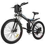 """BIKFUN 20""""/26"""" Bicicletta Elettrica Pieghevole, 250W Bici Elettriche al Lavoro, Batteria 36V 8Ah, Cambio Shimano 21 velocità / 7 velocità, E-Bike para Adultos"""