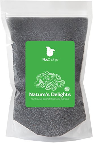 Nut Cravings Whole Blue Poppy Seeds – 100% Natural, Raw, Unwashed Poppy (Purple Corn Extract Powder)