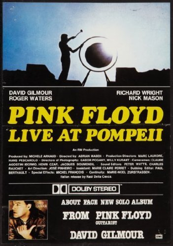 Pink Floyd Live At Pompeii Poster