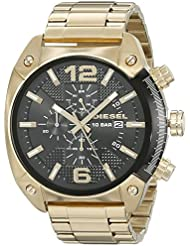 Diesel Mens DZ4342 Overflow Gold Watch