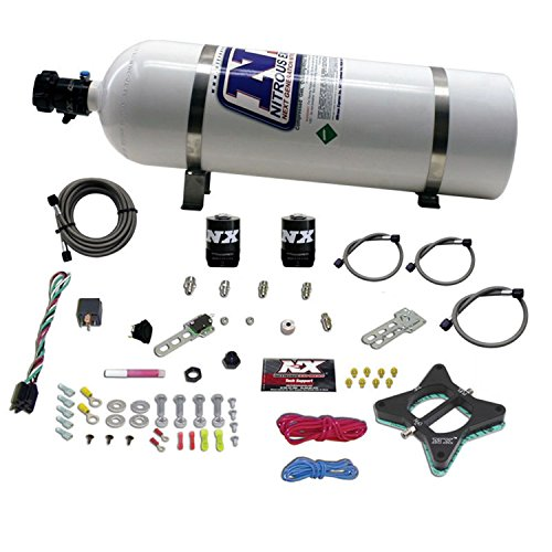 (Nitrous Express 20946-15 50-150 HP 2-Valve Plate System with 15 lbs. Bottle for Ford 4.6L Engine)