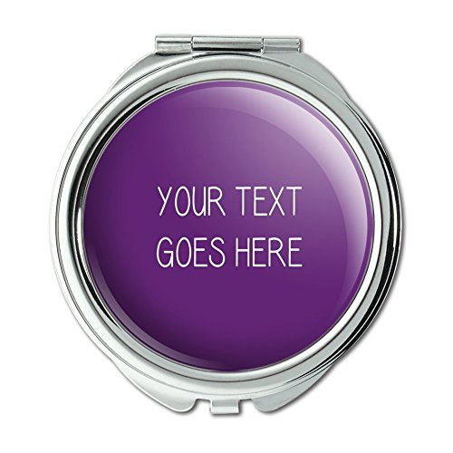Graphics and More Personalized Custom Purple Background Any Occasion Compact Purse Mirror