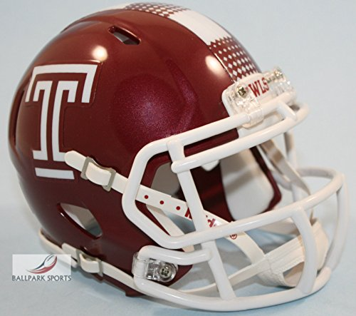 Temple Owls Riddell Speed Mini Football Helmet - New in Riddell Box