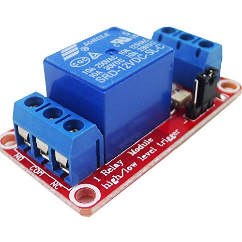 GEREE DC 12V 1CH 1-Channel Relay Module with Optocoupler H/L Level Triger for Arduino