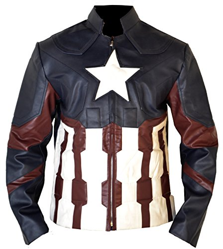The Avengers age of Ultron Captain America Chris evans Synthetic (faux) Leather jacket costume,XS
