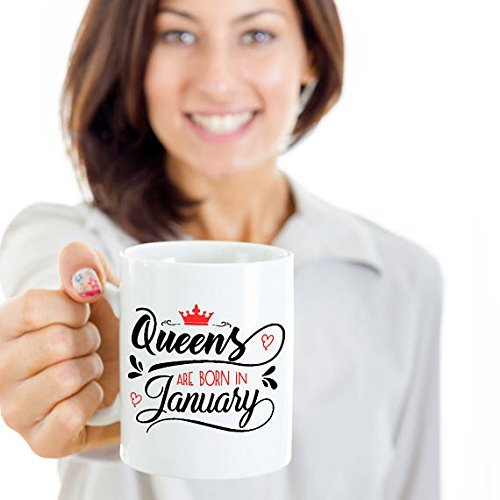 Queens are Born in January | January Mug | January Birthday Coffee Mug | January Birthday Mug | January Born | Birthday Gift | 11oz 15oz