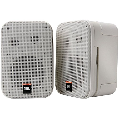 JBL Professional Control 1 Pro High Performance 2-Way Professional Compact Loudspeaker System, White (sold as pair) - C1PRO-WH (Jbl Control One Woofer)