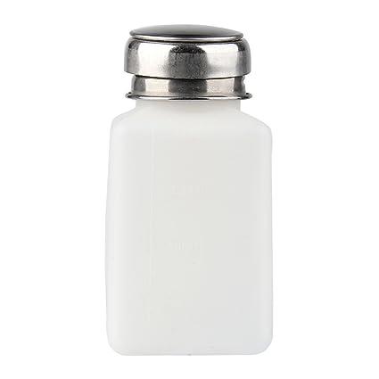 Beauty7 200ML Quitaesmalte Alcohol Líquido Prensa Uñas Nail Polaco Removedor Dispensador Limpiador Bombeo Botella Limpiador de