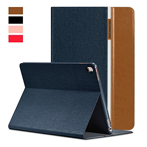 AUAUA iPad Mini 4 Case, iPad Mini 4 PU Leather Case with Smart Cover Auto Sleep/Wake +Screen Protector For Apple iPad Mini 4, 7.9 inch Apple Tablet (Mini 4, Brown)