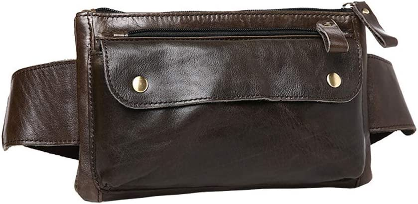 Dark Brown Petzilla Genuine Leather Waist Bag Fanny Pack