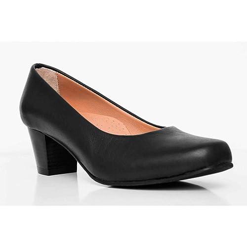 6122be13bc4f2 Amazon.com: % 100 Leather Black Flight Attendant Shoes: Handmade