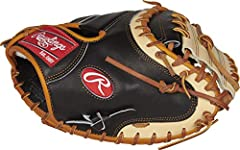 Crafted from highly durable, luxurious Kip leather, the 33-inch Rawlings Pro Preferred catcher's mitt boasts unrivaled protection, durability, and performance. Its solid one-piece web design allows you to catch every type of pitch thrown your...