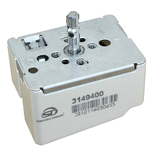 Supplying Demand 3149400 Large Surface Infinite Switch 8.9-11.0A 240 Volts ()