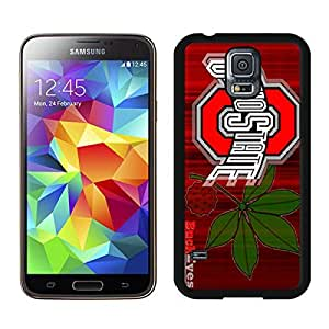 Beautiful Designed Case With Ncaa Big Ten Conference Football Ohio State Buckeyes 17 Black For Samsung Galaxy S5 I9600 G900a G900v G900p G900t G900w Phone Case