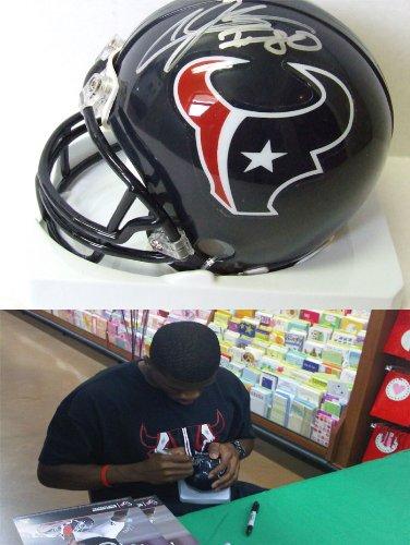 Andre Johnson Signed Mini Helmet