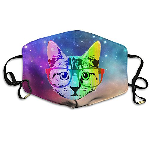 Funny Rainbow Cat Unisex Dust Allergy Flu Masks Washable Activated Carbon Breath Healthy Safety Mouth (Halloween Safety Funny)